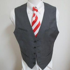 Sz XL Gray Express Mens Wool #96P Suit Vest *snag